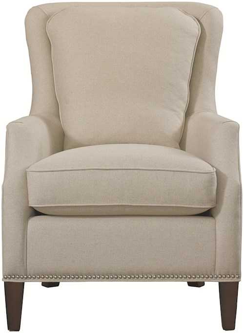 Bassett Accent Chairs Kent Accent Chair with Wing Styled Back