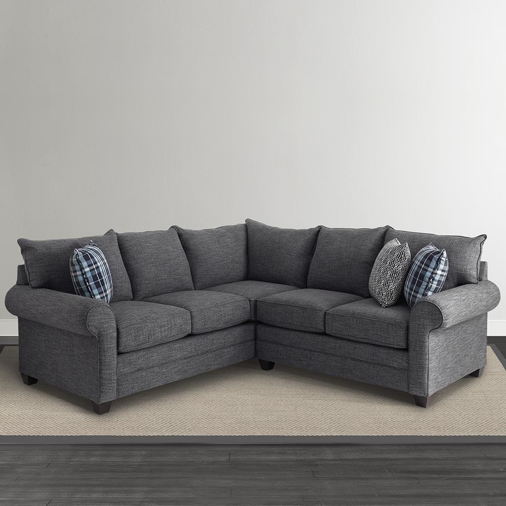 Bassett Alex 3989 3989-LSECT L-Shaped Sectional Sofa  sc 1 st  Great American Home Store : l shaped sectional - Sectionals, Sofas & Couches