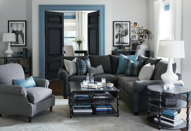 Bassett Alex 3989 L Shaped Sectional Sofa