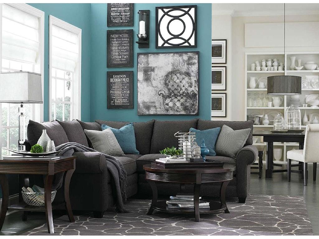 Bassett Alex 3989L-Shaped Sectional Sofa