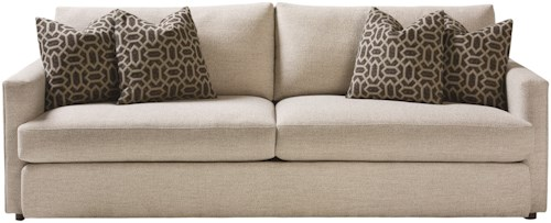 Bassett Allure Contemporary Sofa with Track Arms