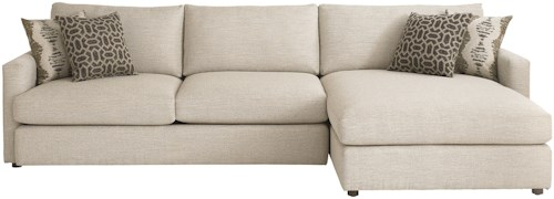 Bassett Allure Contemporary Sectional with Right Arm Facing Chaise