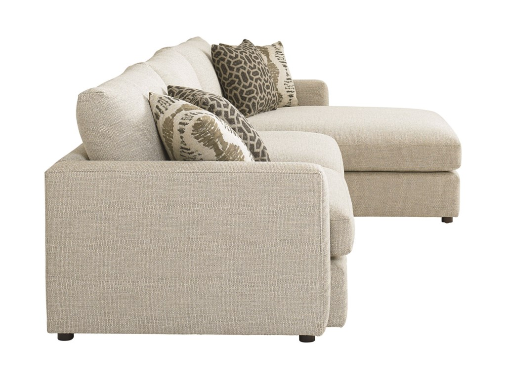 Bassett AllureSectional with Right Arm Facing Chaise