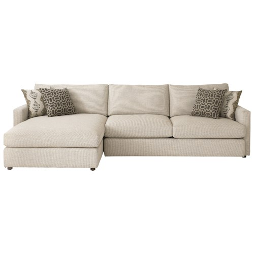Bassett Allure Contemporary Sectional with Left Arm Facing Chaise