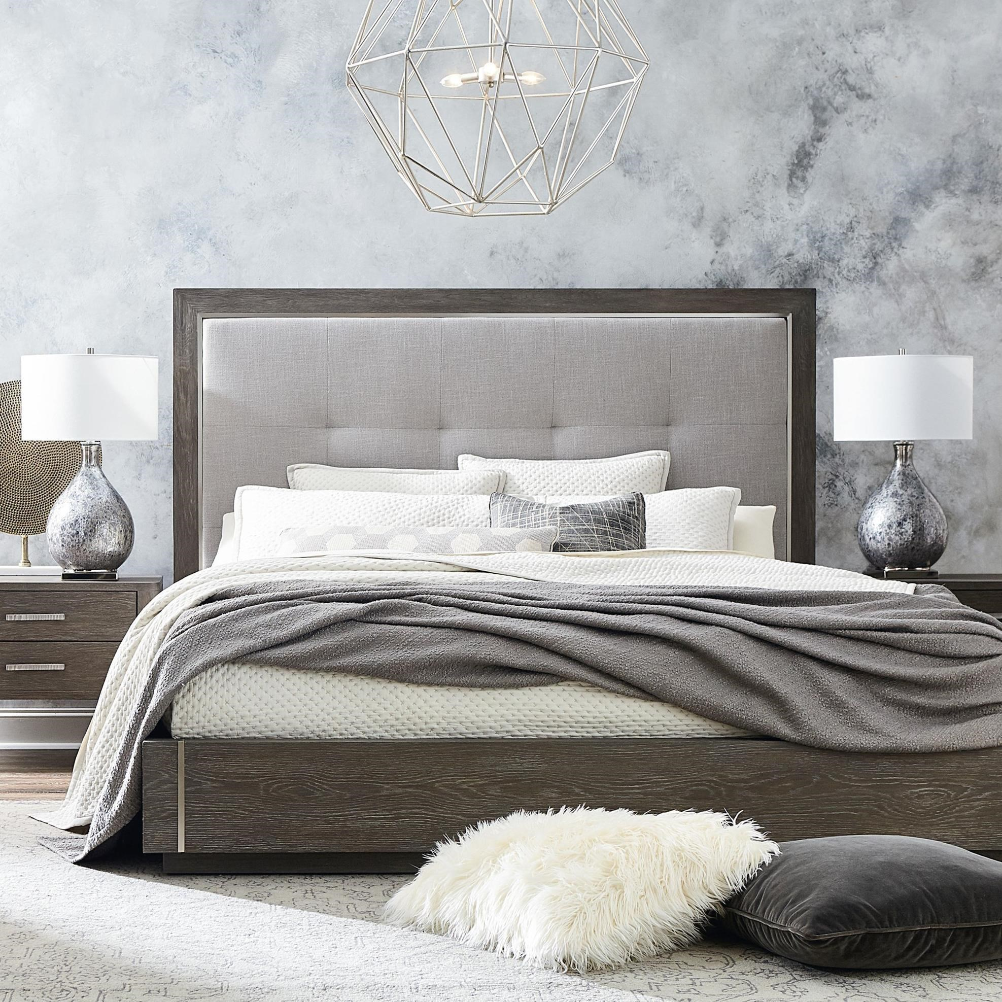 Picture of: Bassett Modern Astor And Rivoli Modern California King Bed With Upholstered Headboard Dean Bosler S Platform Beds Low Profile Beds