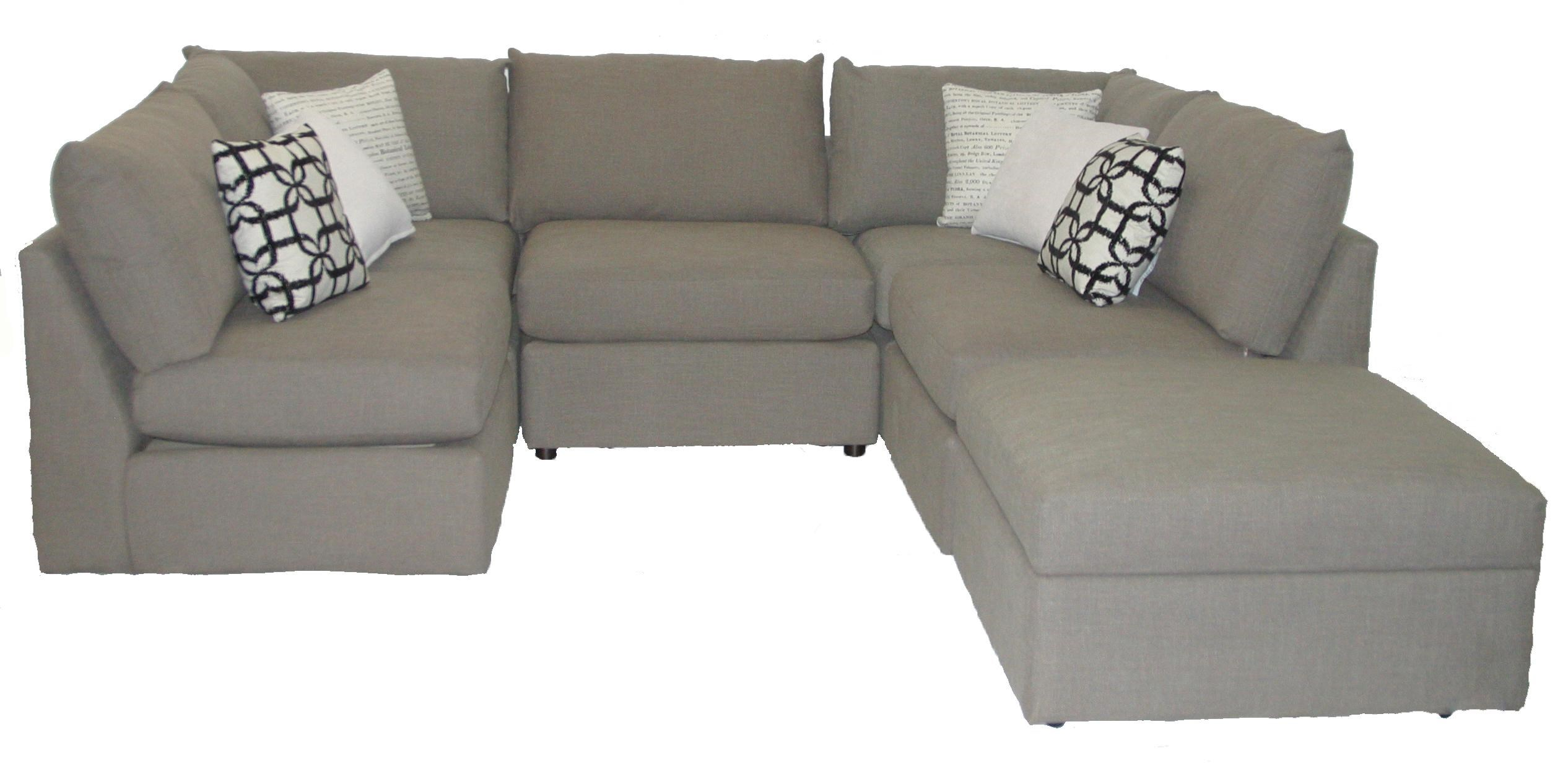Bassett Beckham 2676 Kit Transitional U Shaped Sectional