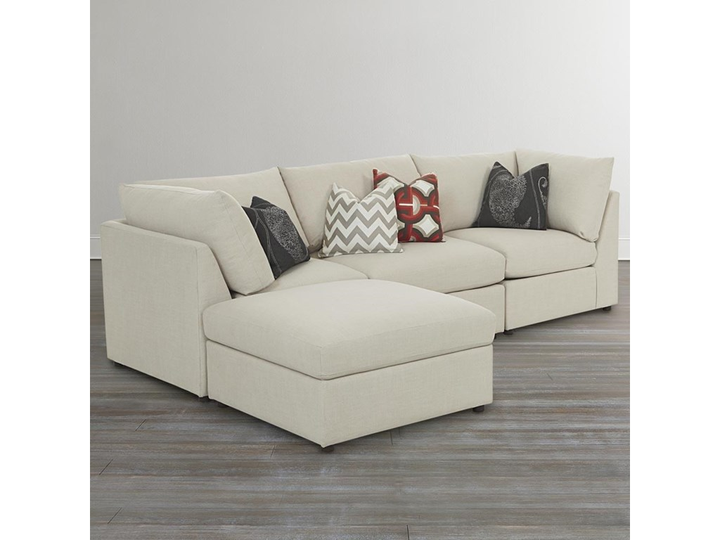 Bassett Beckham 3974Custom L-Shaped Modular Sectional
