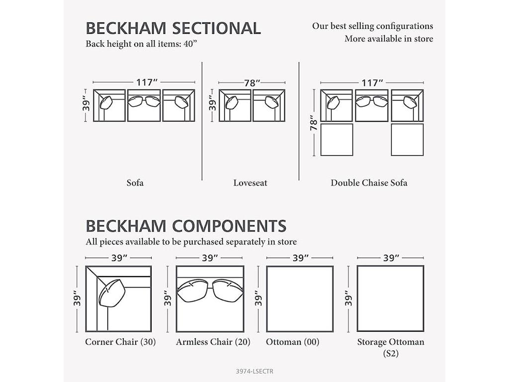 Bassett BeckhamCustom L-Shaped Modular Sectional