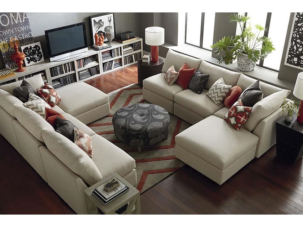 Bassett BeckhamCustom L-Shaped Modular Sectional