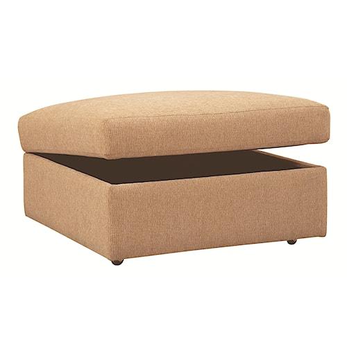 Bassett Beckham 3974 Upholstered Storage Ottoman