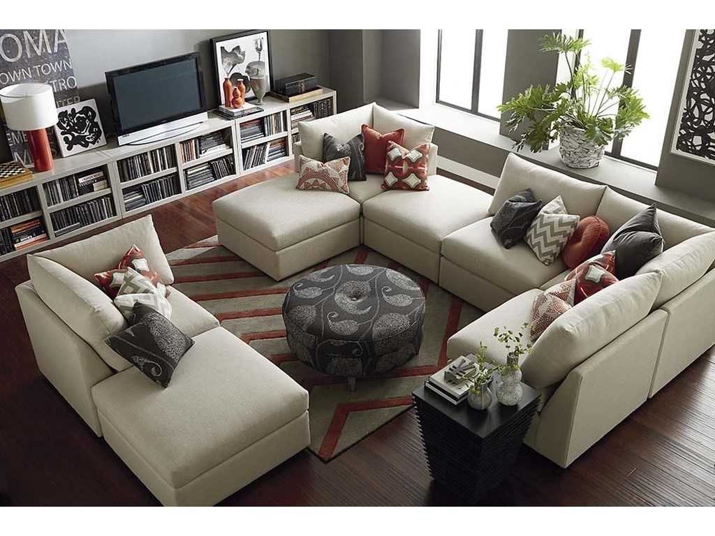 Bassett BeckhamCustom U-Shaped Modular Sectional