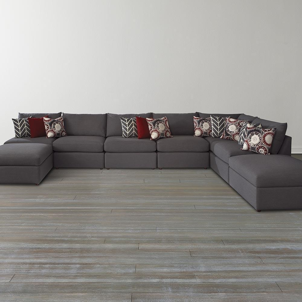 bassett beckham 3974 custom modular u-shaped sectional - great