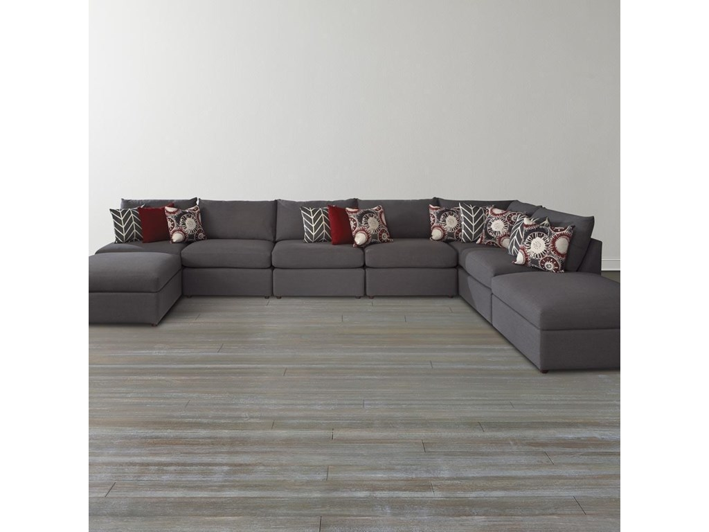 Bassett Beckham 3974Custom Modular U-Shaped Sectional
