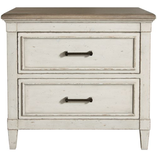 Bassett Bella Cottage Nightstand with Weathered Finish