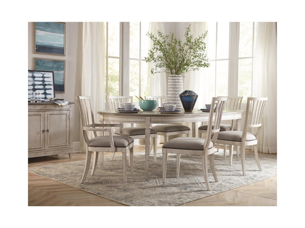 Bassett Bella Cottage 7 Piece Dining Table And Chair Set