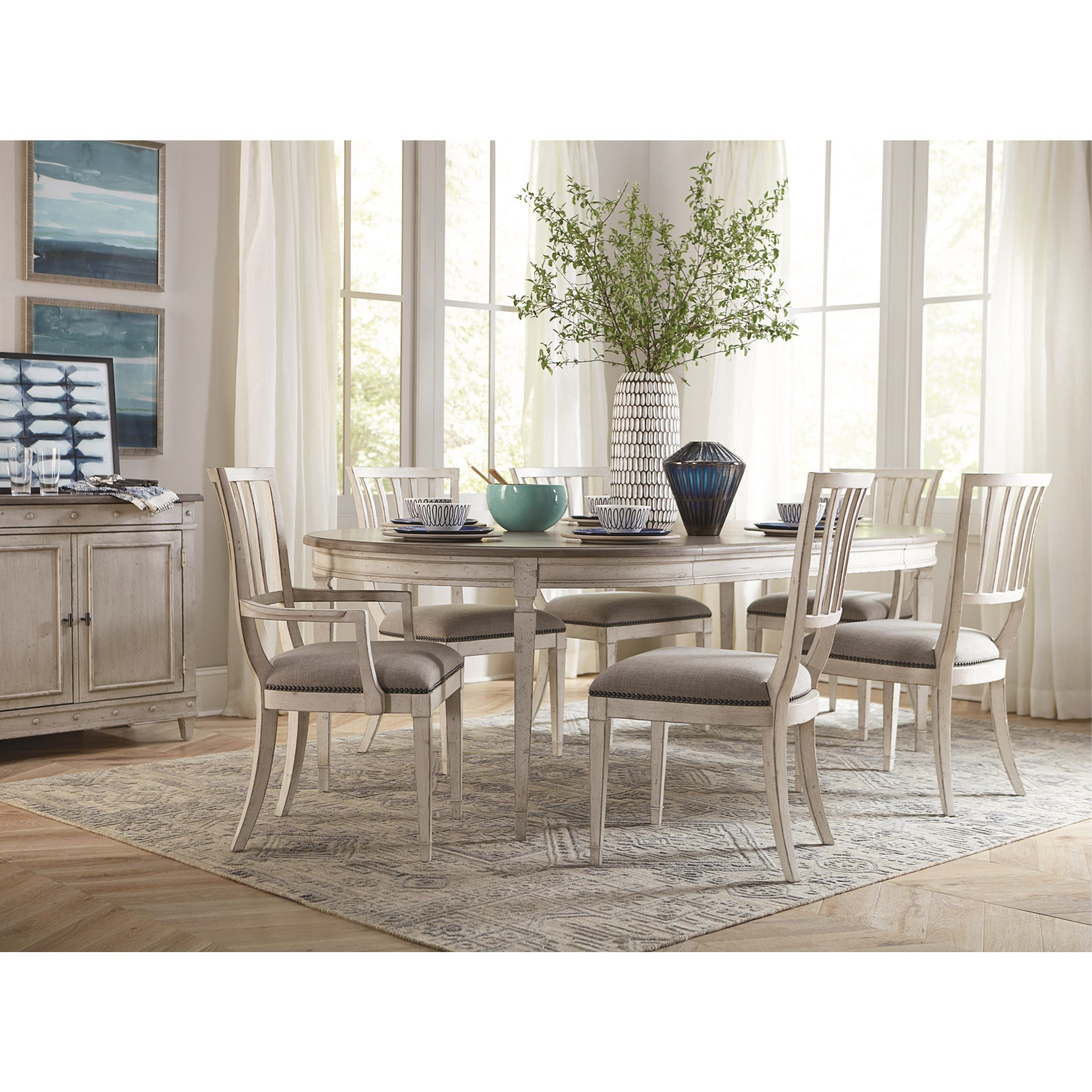 Bella Cottage 7 Piece Dining Table And Chair Set By Bassett