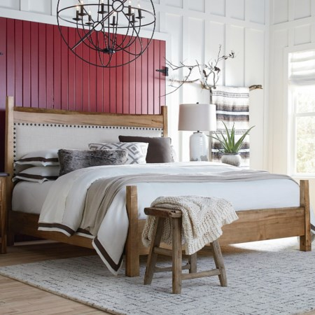 Upholstered Queen Panel Bed