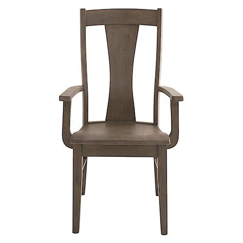 Bassett Bench Made Boone Transitional Arm Chair