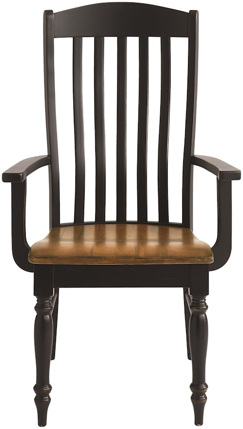 Bassett Bench Made Henry Arm Chair with Classic Slat Back