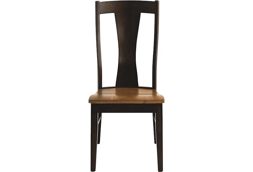 Bassett Bench Made Maple Boone Transitional Side Chair Bassett
