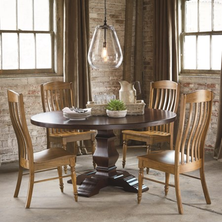 Four Person Round Tavern Table Set