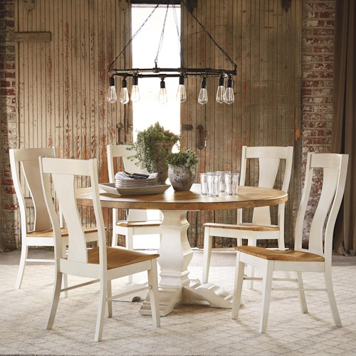 Bassett Bench Made Six Person Round Table Set