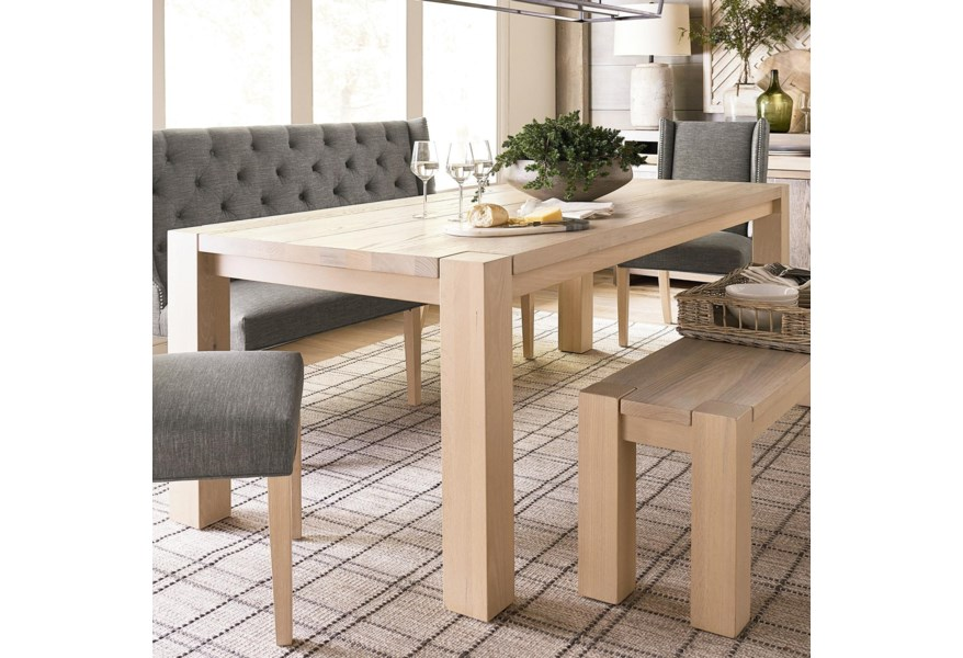 Bassett Benchmade Oak Customizable Solid Wood Dining Table