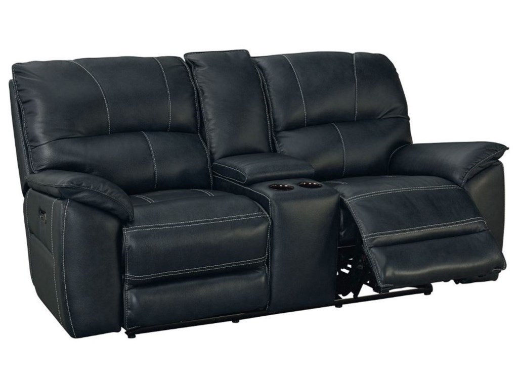 Bassett BensonPower Reclining Console Loveseat