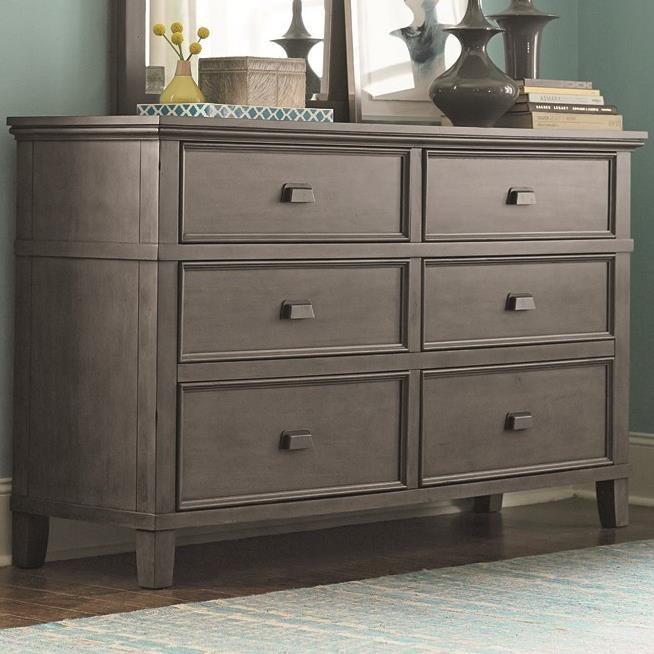 Bassett Brentwood 2794 0237 Six Drawer Dresser With Drop Front Media Drawer  | Becker Furniture World | Dressers
