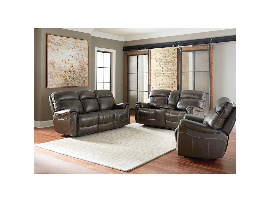 Bassett Bridgeport - Club LevelMotion Sofa with Power Headrests