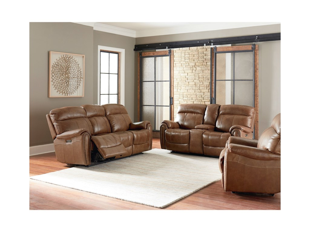 Bassett Bridgeport - Club LevelMotion Sofa with Power Headrests