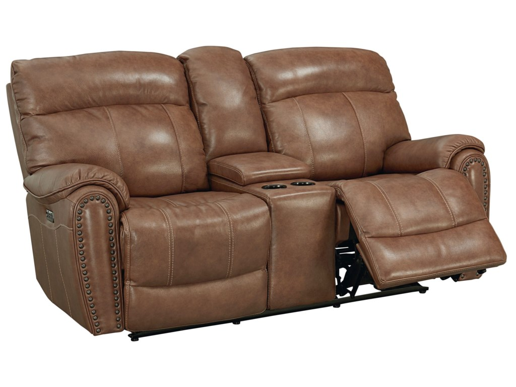 Bassett Bridgeport - Club LevelMotion Loveseat with Power HRs and Console
