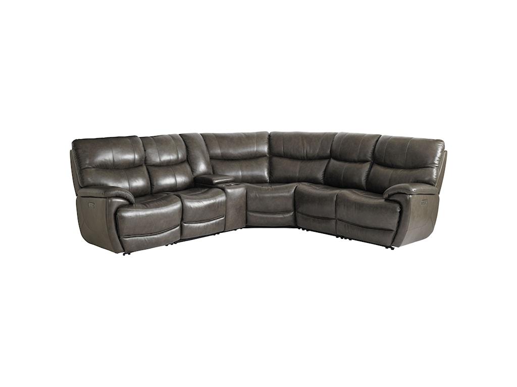 Bassett Brookville - Club Level by BassettPower Reclining Sectional Sofa