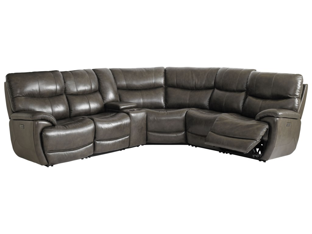 Bassett Brookville - Club Level by BassettPower Reclining Sectional Sofa