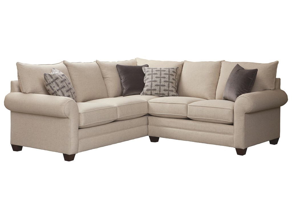 Bassett Cameron Sectional Living Room Group   Becker ...
