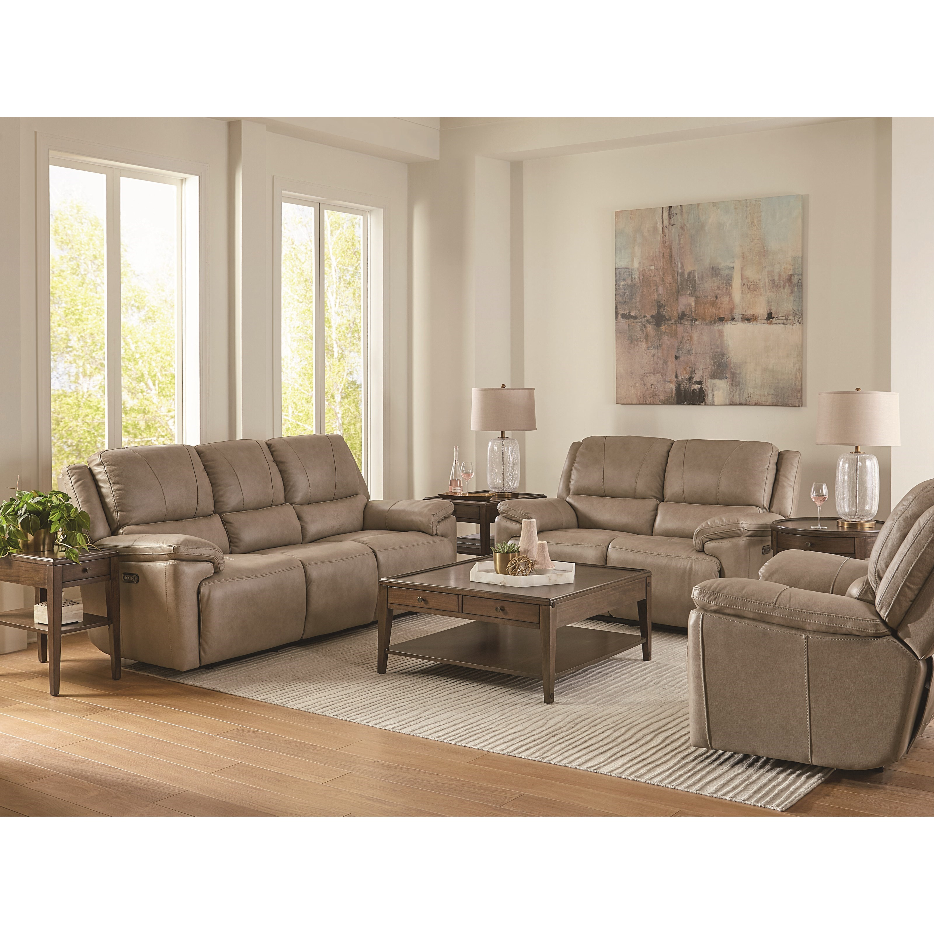 Picture of: Bassett Club Level Colton Casual Power Reclining Sofa With Adjustable Headrests And Usb Ports Wayside Furniture Reclining Sofas