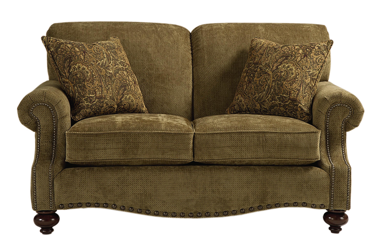 Bassett Club Room Traditional Love Seat   Darvin Furniture   Love Seats