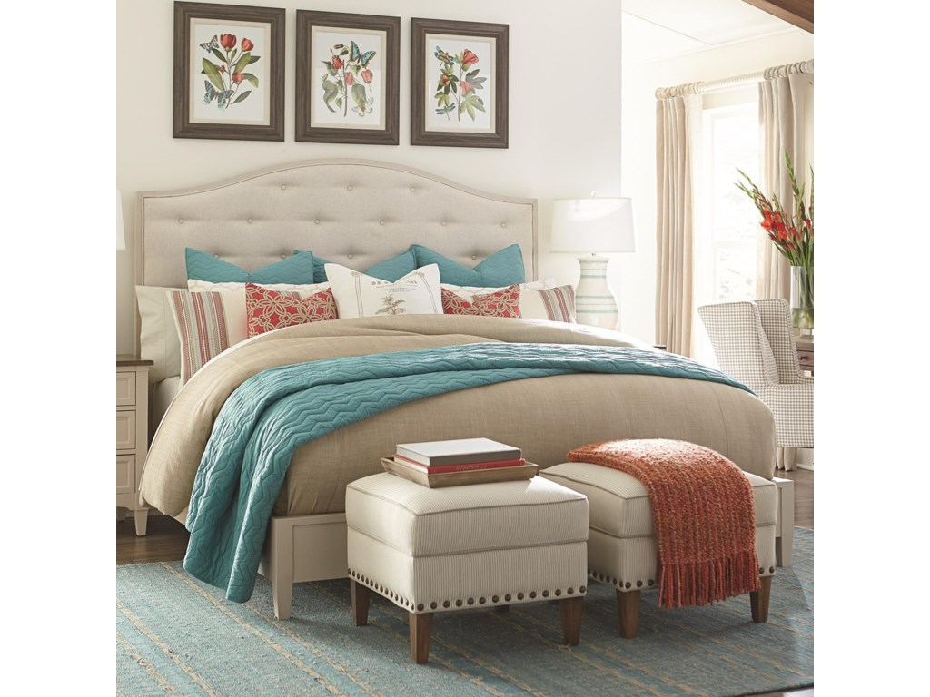 Bassett CommonwealthComplete Queen Upholstered Bed
