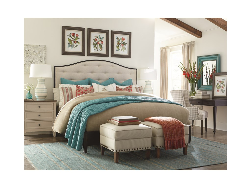 Bassett CommonwealthComplete California King Upholstered Bed