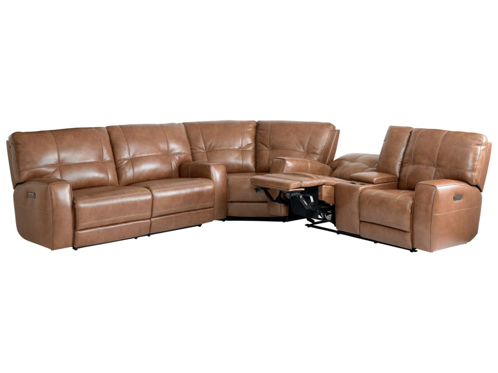 Bassett ConwayReclining Curved Corner Sectional