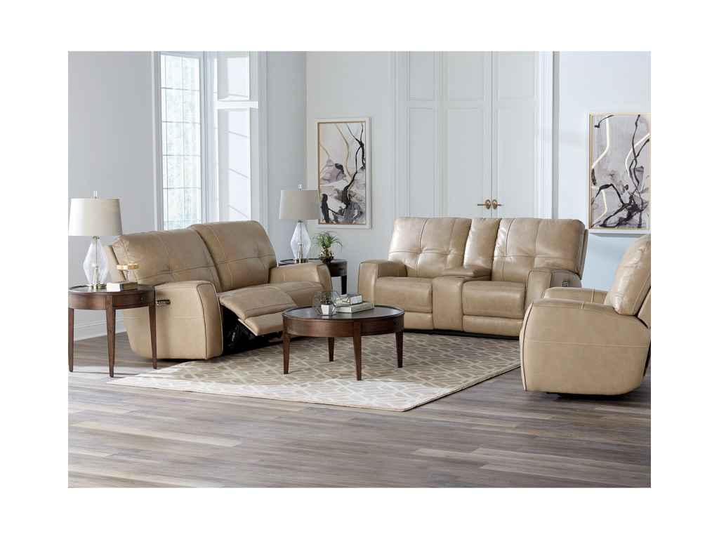 Bassett ConwayPower Reclining Loveseat