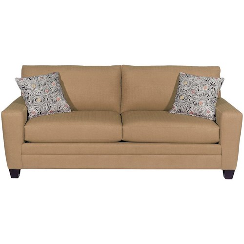 Bassett Furniture Utah: Bassett CU.2 Upholstered Stationary Sofa