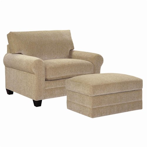 Bassett CU.2 Upholstered Stationary Chair and a Half and Ottoman