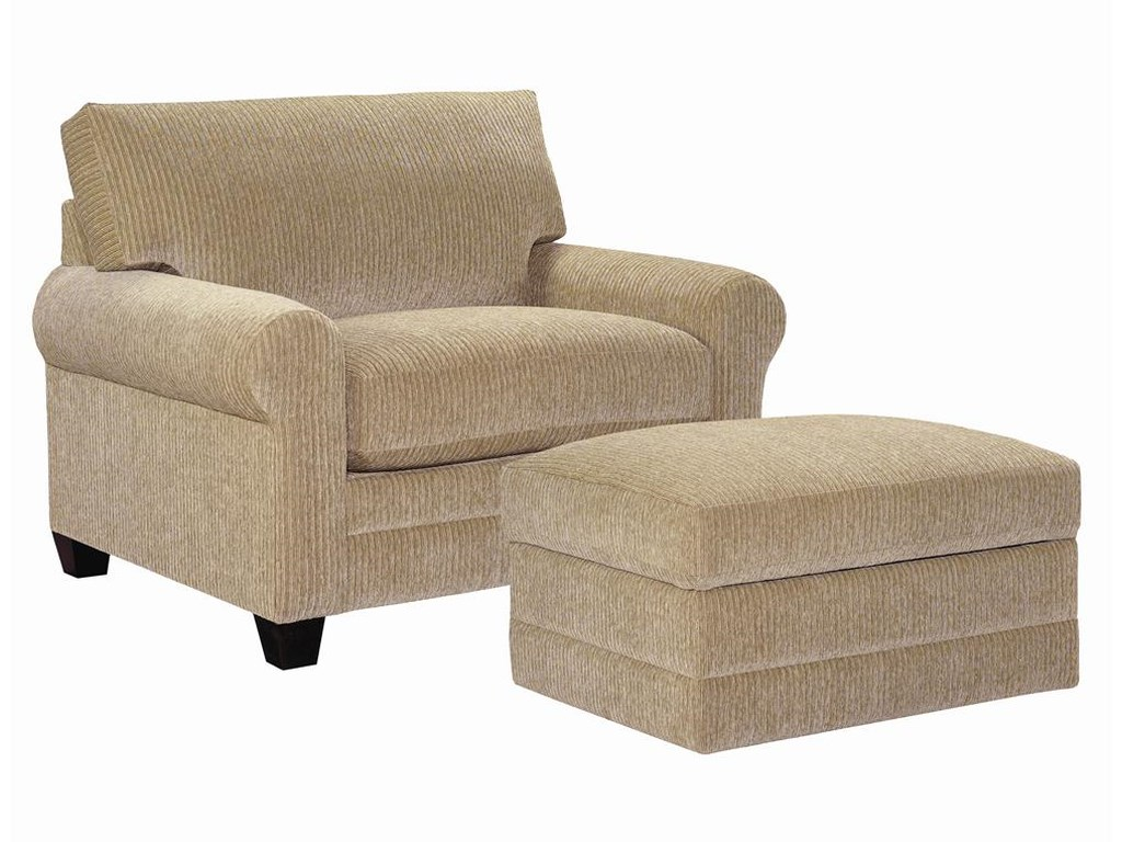 Bassett CU.2Upholstered Chair and Ottoman