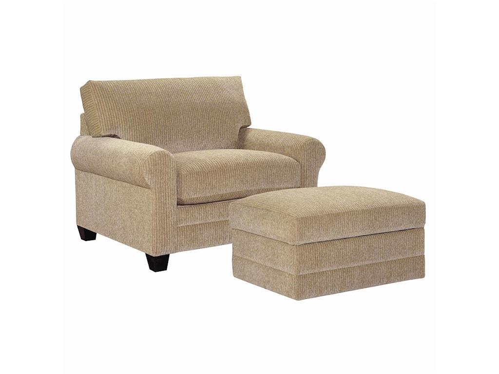 Bassett CU.2Upholstered Chair and Ottoman