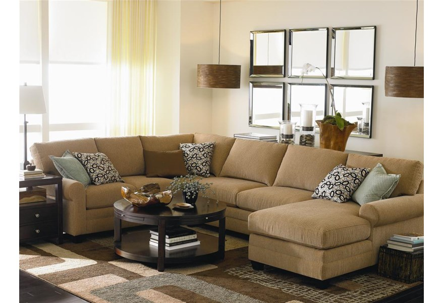 Bassett Cu 2 U Shaped Stationary Sectional Group Vandrie Home Furnishings Sectional Sofas