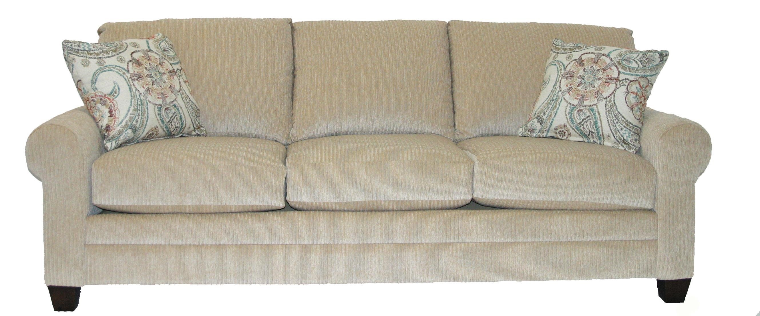 Attractive Bassett CU.2Upholstered Stationary Sofa ...