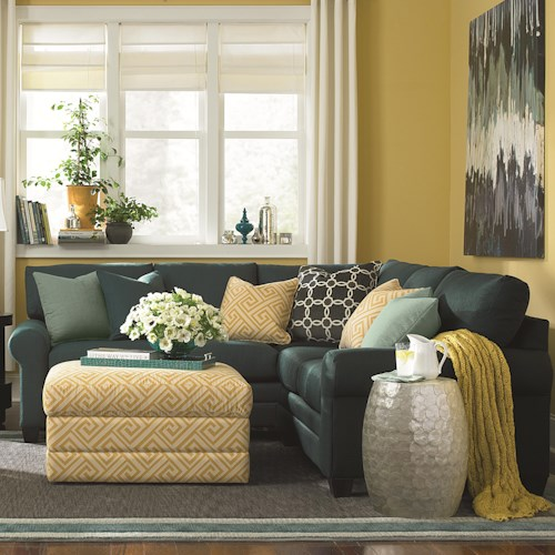 Bassett CU.2 L-Shaped Upholstered Sectional Group