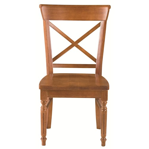 Bassett Custom Dining 4469 X-Back Side Chair with Turned and Tapered Legs