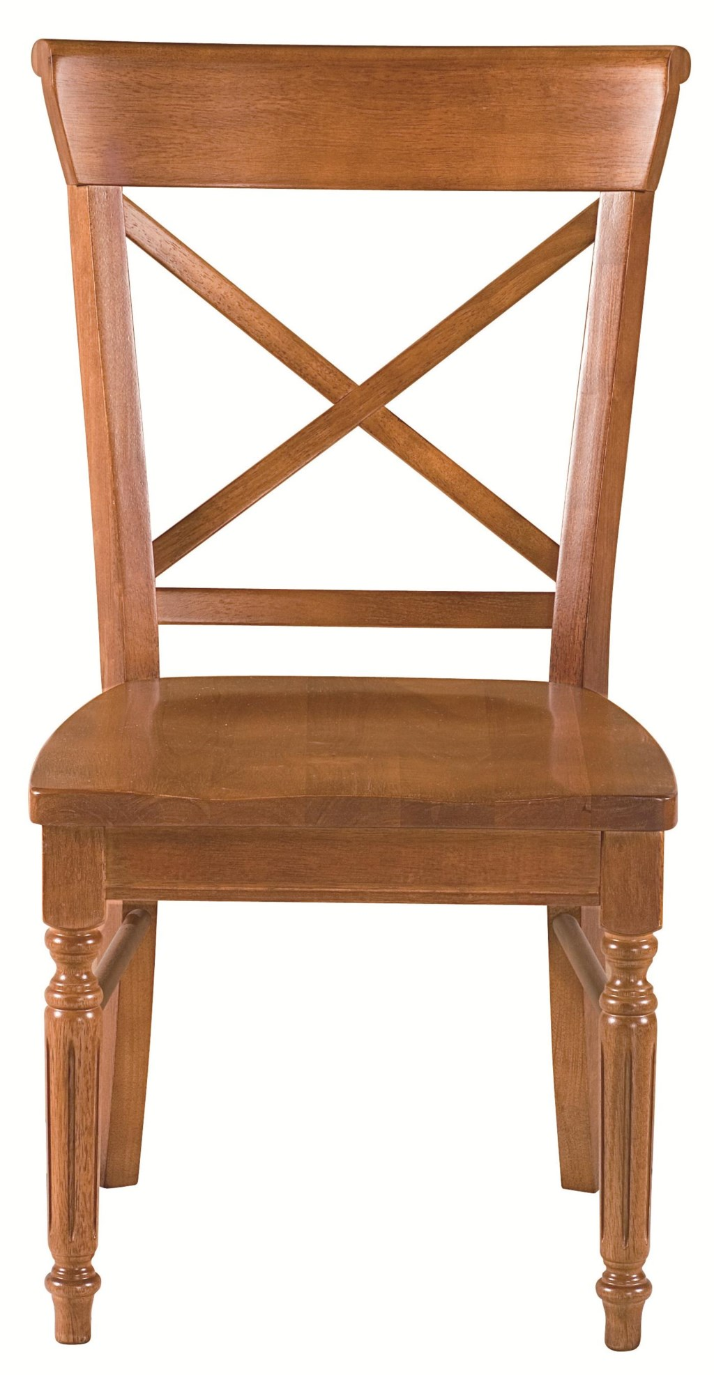 Custom Dining Chairs bassett custom dining 4469 x-back side chair with turned and